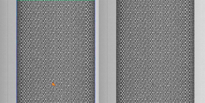 fabric defect on seatbelt